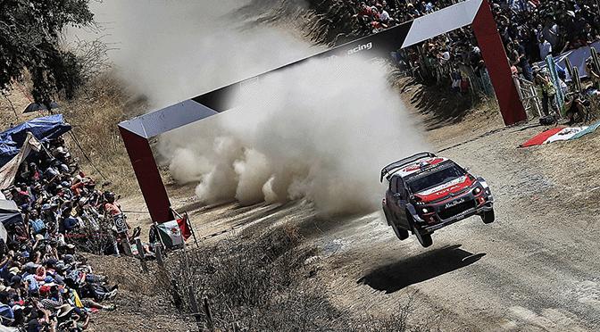 WRC Rallye du  Mexique deuxième podium pour la C3 WRC.